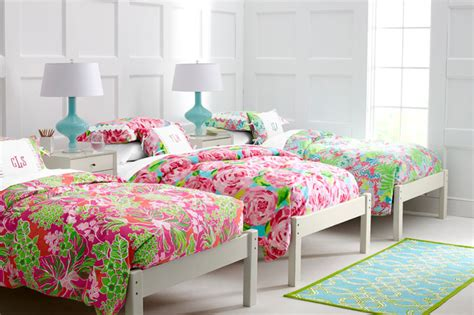 Lilly pulitzer sister florals bedroom traditional bedroom by