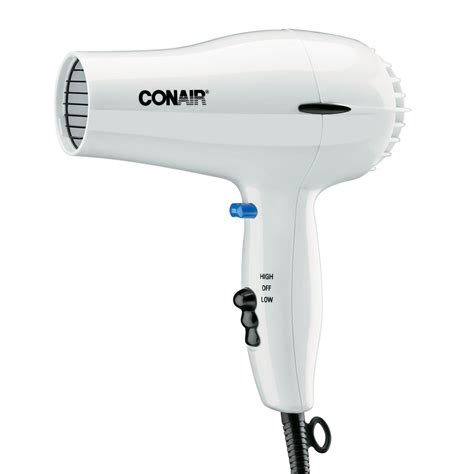 White Hair Dryer conair hospitality 047w compact hair dryer w cool