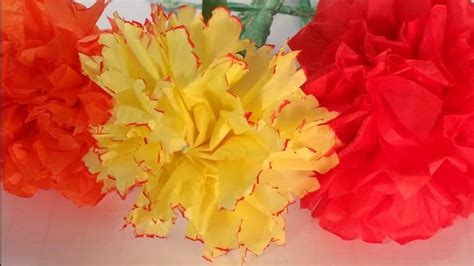 How To Make Tissue Paper Carnations - how to make a tissue paper carnation easy step by step