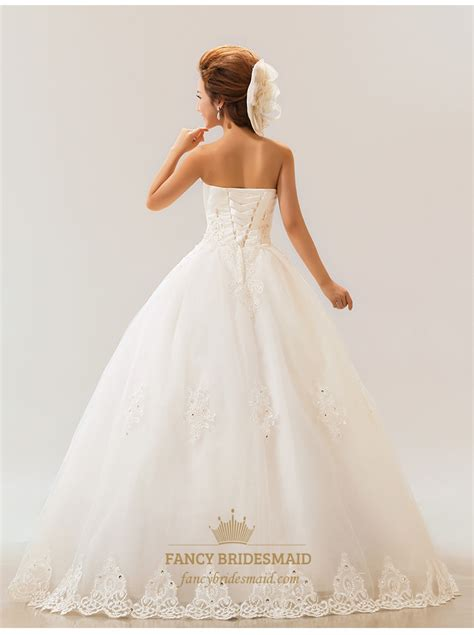 Lace Wedding Dress For Sale by Lace Strapless Wedding Dress White Wedding Dresses For