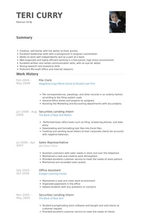 file clerk resume examples - File Clerk Resume Sample