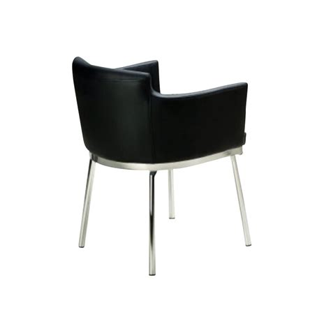 Club Style Dining Chairs Chintaly Dusty Club Style Swivel Arm Dining Chair In Black And Chrome Dusty Ac Blk Kd