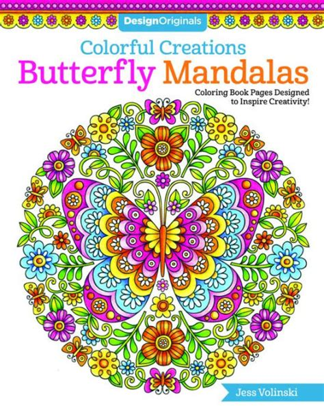colorful creations colorful creations butterfly mandalas coloring book pages