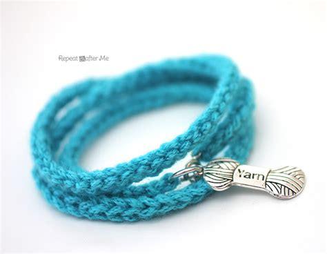 Make Macramé Cord Bracelet Patterns Home - crochet i cord bracelet with yarn charm repeat crafter me