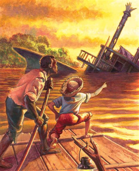 huckleberry finn dark themes cooneyworld huck finn