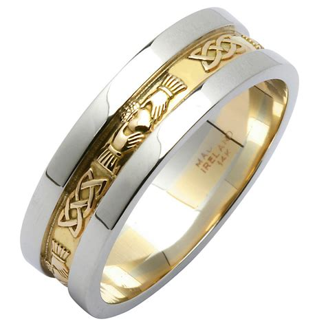 wedding ring yellow gold with white gold