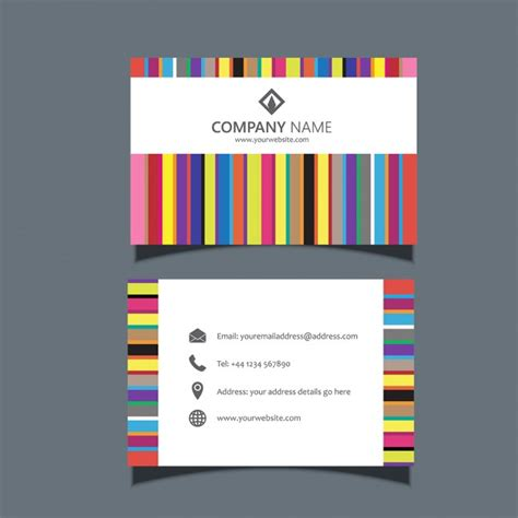 colorful business card templates free business card template with colorful lines vector free