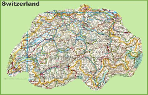 map of switzerland cities large detailed map of switzerland with cities and towns