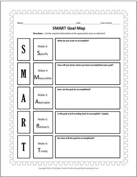 25 best ideas about goal setting template on pinterest