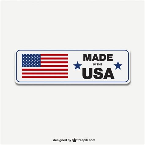 made in the usa logo made in usa label vector vector free