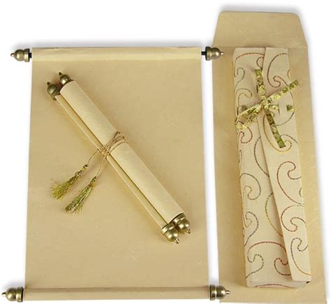 marriage wedding card images 10 scroll wedding invitations scroll marriage cards by awc