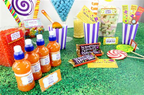 willy wonka sweet table delights