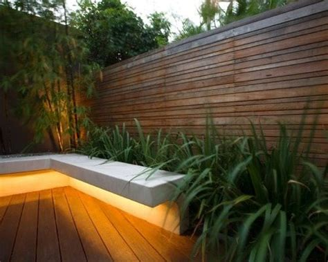 under bench led lighting modern retaining wall garden inspiration pinterest