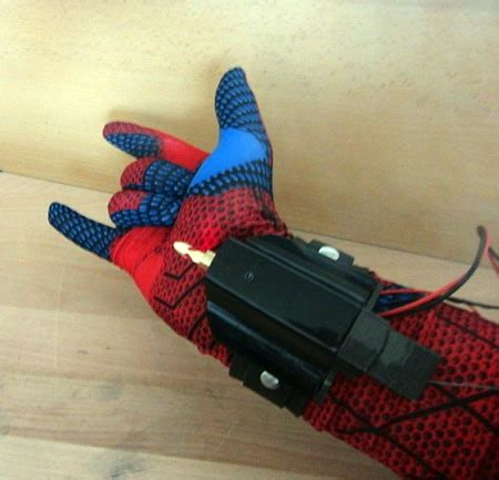 Handmade Web - builds real spider web shooter powered by a