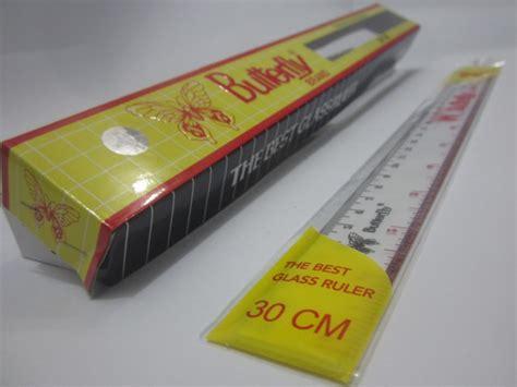 Murah Penggaris 15 Cm Butterfly Atk jual alat tulis kantor murah surabaya 187 penggaris plastik