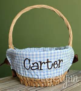 personalized easter basket liners personalized easter basket liner light blue gingham plaid