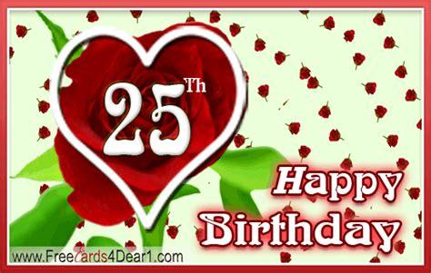 Happy Th Birthday Ecards by 25th Birthday Ecards Greeting Cards