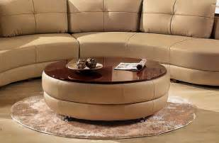 Modern Leather Coffee Table Modern Cappuccino Leather Coffee Table Contemporary