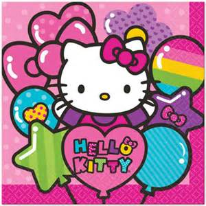 Hello kitty lunch napkins 16 at birthday direct