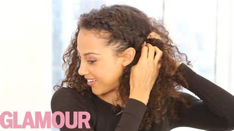 Curly Braided Hairstyles by Curly Hairstyle How To The Braided Updo Hey Hair Genius