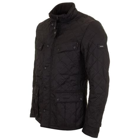 Leather Jaket Black Ariel barbour international ariel polarquilt jacket black mqu0365bk91