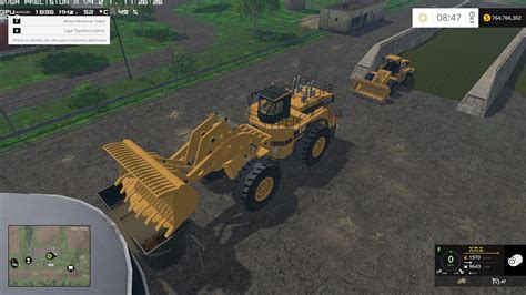 salt ls and cats caterpillar 994f for silage v1 0 fs15 farming simulator