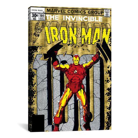 Enya Marvel 26 H marvel comics retro the invincible iron 1977 100 18 quot w x 26 quot h x 0 75 quot d marvel