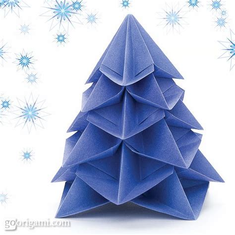 Winter Origami - origami tree winter solstice