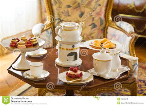tea table setting royalty free stock images image 13043079
