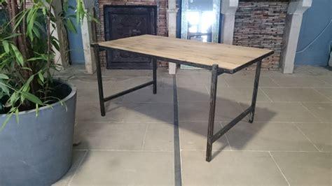 bureau fer bureau en fer et vieux bois vieux ch 234 ne de r 233 cup 233 ration