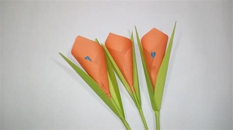 How To Make An Easy Flower Out Of Paper - how to make calla paper flower easy origami flowers