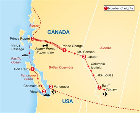 map of western canada and usa best of western canada archers holidays