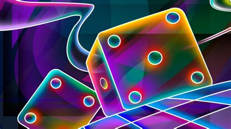 cube dice neon picture cool colourful background