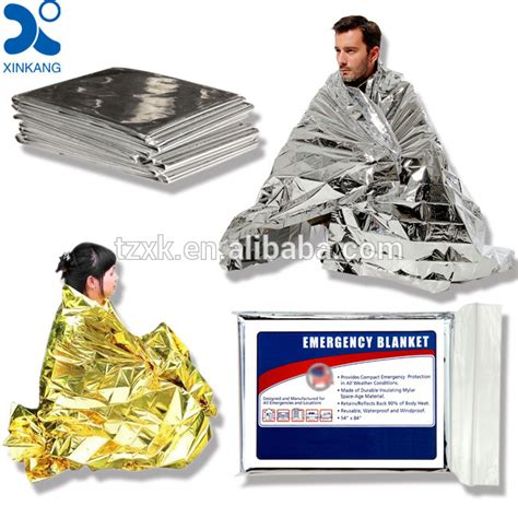 Emergency Blanket Gold Selimut Pencegah Hepotermia aluminium disposable patient blanket warming hypothermia blanket infant pack of 20 pcs buy