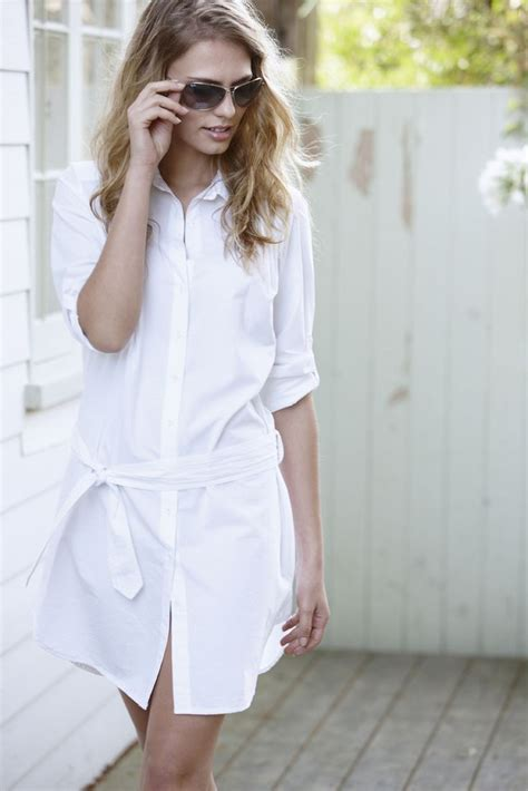 Tunik Todays Eye crisp white shirt dress contemporary white shirt