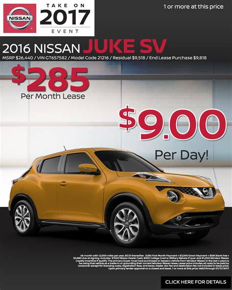 nissan lease deals nissan monthly lease deals