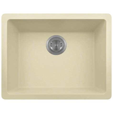 Beige Kitchen Sinks Polaris Sinks Undermount Granite 22 In Single Bowl Kitchen Sink In Beige P808 Beige The Home