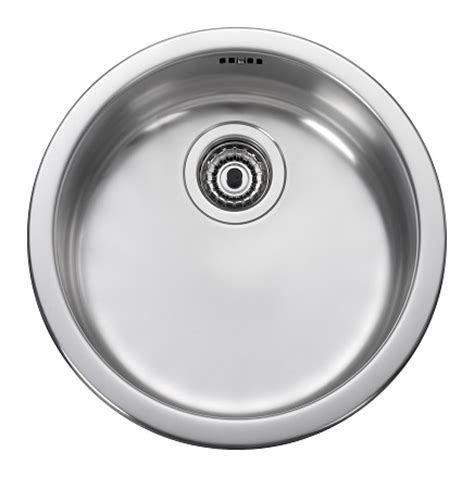 round stainless steel kitchen sink leisure rb440bf 1 0 bowl round inset stainless steel