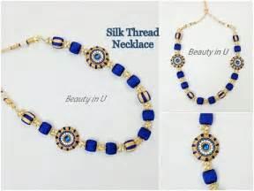easy silk thread necklace tutorial
