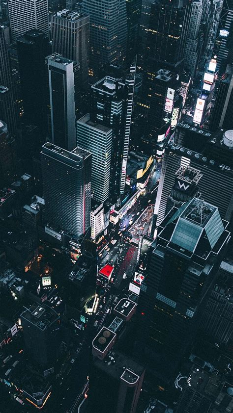 wallpaper for your iphone time square new york view from chopper iphone wallpaper