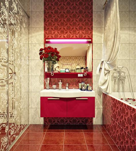 red bathroom ideas red bathroom decorating ideas home trendy