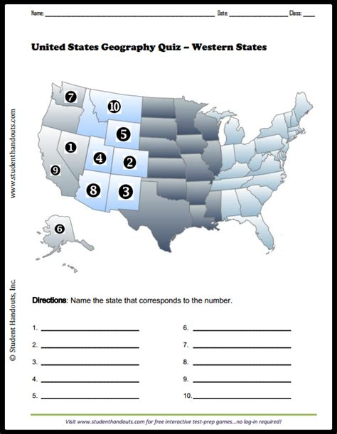 us map quiz type states click here to print students are asked to identify the