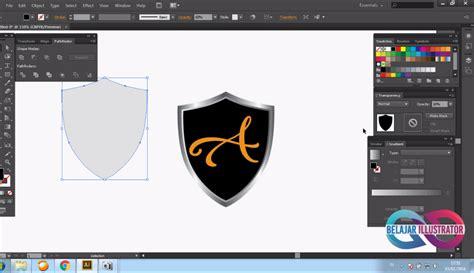 membuat logo dengan adobe illustrator belajar illustrator cara membuat tameng logo shield