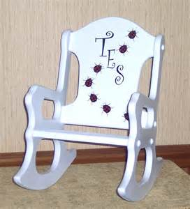 toddler chair personalized personalized toddler rocking chair ladybugs by weaverwood
