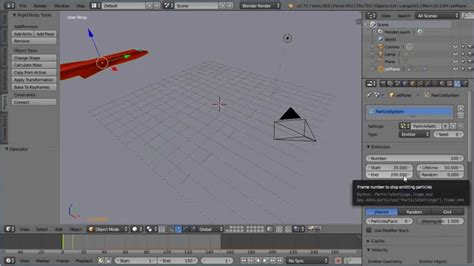 tutorial blender physics blender animation tutorial a jet crash landing setting