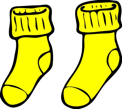 clipart picture yellow socks clip at clker vector clip