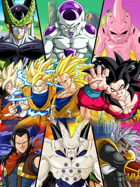 dragon ball z villains wallpaper dragon ball z gt ssj forms and main villains by