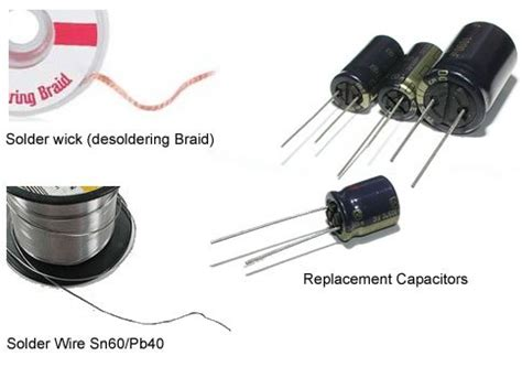 capacitor repair kit for samsung tv samsung lcd plasma tv capacitor repair kit replacement import it all