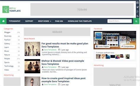 adsense untuk blogspot mblog adsense responsive blogger template