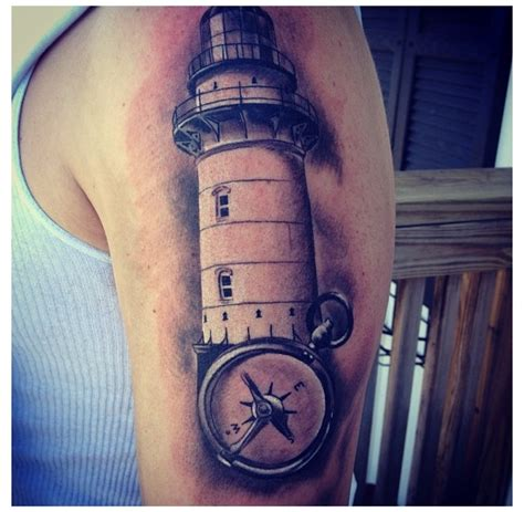 compass lighthouse tattoo pin lighthouse compass tattoo youll always manage to find
